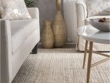 Solid Off White area Rug Kiwa Handwoven Jute Ribbed solid F White Rug In 2020