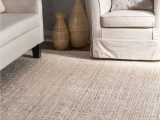 Solid Off White area Rug Nuloom Clwa01b ashli solid Jute area Rug 3 X 5 F White