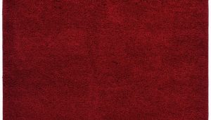 Solid Red 5×7 area Rug Buy Red 5 X 7 soho Shaggy Collection solid Color Shag