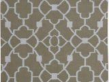 Somerset Home Geometric area Rug Grey and White Ozzie Geometric Handwoven Dorian Gray F White area Rug
