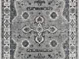 Somerset Home Geometric area Rug Grey and White Surya Mum2310 5373 5 Ft 3 In X 7 Ft 3 In Mumbai area Rug