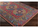 Southwestern area Rugs for Sale Shop Abalos southwestern Border Bright Red area Rug 76 X
