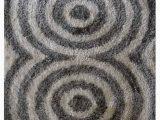 Spiral Medallion Gray area Rug Annunziata Geometric Handmade Tufted Gray White area Rug