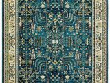 """Stone and Beam area Rugs Stone & Beam Traditional Royal Rug 5 3""""x 7 3"""" Teal"""