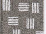 "Sunham Home Fashions Bath Rug Lacoste Raster Cotton towel 16"" W X 30"" L Hand Meteorite Grey"