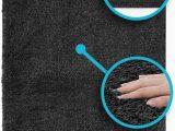 Super Plush Bath Rugs Luxe Rug Plush Bathroom Rugs Bath Shower Mat W Non Slip Microfiber Super Absorbent Dark Grey 1
