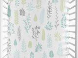 Sweet Jojo Designs area Rug Sweet Jojo Designs Blue Grey Tropical Leaf Uni Boy Girl