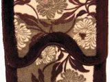 Tan Bathroom Rug Set Amazon Brown Tan and Flowers Bathroom Rug and Contour