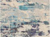 Teal and Blue Rug Nourison Celestial Ces02 Ivory Teal Blue area Rug