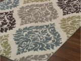 """Teal and Brown area Rug 8×10 Modern Contemporary Rug 8×10 8 2""""x10 Ivory Teal"""