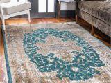 Teal and Brown area Rug 8×10 Teal 8 X 10 Delilah Rug