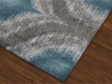 Teal and Gray Bathroom Rugs Modern Grey Teal Premium Polypropylene Rug soft and