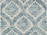 Teal and Ivory area Rugs Delana Dark Blue Teal Light Gray area Rug