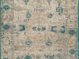 Teal and Ivory area Rugs Godoy Teal Ivory area Rug