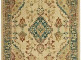 Teal and Ivory area Rugs Nourison Traditional Antique Trq04 Ivory Teal area Rug