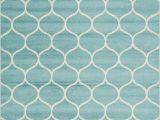 Teal and Ivory area Rugs Tellaro Geometric Teal Ivory area Rug