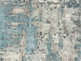 """Teal and Ivory area Rugs Watercolors 6233 Ivory Teal Watercolors 3 3"""" X 4 11"""" area Rugs"""