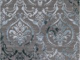 Teal area Rugs for Sale Concord Global Trading thema 2966 Damask Teal Gray area Rug