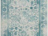 Teal area Rugs for Sale Rugstudio Sample Sale R Ivory Teal area Rug Last Chance