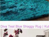 Teal Blue Shaggy Rug Diva Teal Blue Shaggy Rug