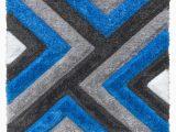 Teal Blue Shaggy Rug Luxus Cascade 3d Shaggy Rug Grey Teal