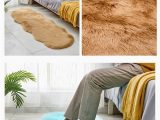 Thick Carpet Pad for area Rugs 60 180cm Modern Style Floor Carpet Ground Mat solid Color Plush area Rugs Doormat Floating Window Tatami Mat Non Slip Foot Pads