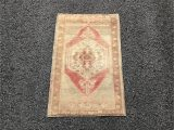 Thin Rugs for Bathroom Small Oushak Rug 1 9 X 3 1 Ft Vintage Brown Turkish Rug
