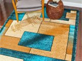 Turquoise and Brown area Rug 8×10 1657 Turquoise