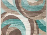 Turquoise and Brown area Rug 8×10 Summit New Elite 60 Turquoise Swirl area Modern Abstract Rug Many Sizes Available 3 8 X 5 4 X 5 Actual is 3 8 X 5