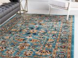 Turquoise and Brown area Rug 8×10 Turquoise 8 X 10 Charlestown Rug