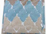 Turquoise and Brown Bathroom Rugs Amazon Bibb Home 2pc Bath Rug Set Cotton Latex