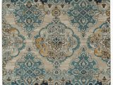 Turquoise and Yellow area Rug atherton oriental Turquoise Yellow Beige Indoor Outdoor area Rug
