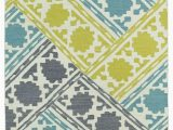 Turquoise and Yellow area Rug Glam Gla02 78 Turquoise area Rug by Kaleen