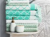 Turquoise Bath towels and Rugs Update Your Bathroom with soft towels Plush Bathroom Rugs