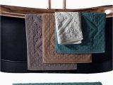 Turquoise Bathroom Rugs and towels 1pc Hotel Cotton Bath Mat Luxury Home Bath Rug Jacquard towel Rug Thick Anti Slip Doormat Super Absorbent Bathroom Tub Mats