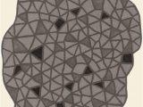 Unique Shaped Bath Rugs Modernrugs Odd Shaped Geometric Triangles Black Gray