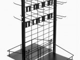 """Used area Rug Display Racks for Sale Rolling Retail Display Merchandising Rack Store Fixture 66"""" Tall X 28"""" Footprint Includes 50 Peg Hooks and 4 Shelves by Brybelly"""