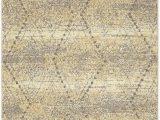 Vado Beige Ivory Grey area Rug Mohawk Nomad Vado Tan Hi Low Geometric Diamond Woven Shag area Rug 5 X8 Tan