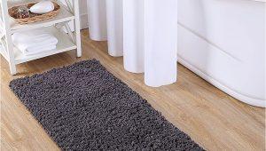 "Vcny Paper Shag Bathroom Rug Runner Vcny Home Paper Shag Bathroom Rug 24"" X 60"" Gray"