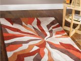 Very Large area Rugs Cheap Lord Of Rugs Very Quality Heavyweight Modern Art Design orange Brown area Rug In 160 X 220 Cm 5 3 X 7 4 Carpet