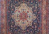 Vintage Blue Persian Rug Antique Blue Background isfahan Persian Rug