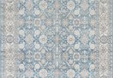 Vintage Blue Persian Rug Silver ash Gray Ivory Light Blue Faded oriental Distressed