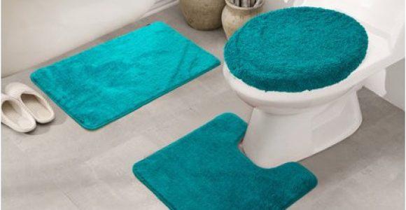 Walmart 3 Piece Bathroom Rug Set Royalty 3 Piece Bath Rug Set In Teal Walmart Com