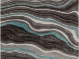 Walmart area Rugs Better Homes and Gardens Better Homes & Gardens Gray & Aqua Waves area Rug Multiple Sizes Walmart