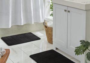Walmart Memory Foam Bath Rugs Mohawk Memory Foam Bath Rug 2 Piece Set In Black 18 X 27