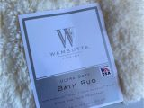 Wamsutta Contour Bath Rug Wamsutta Ultra soft 17 X 24 Inch Ivory Bath Rug Stained