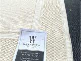 Wamsutta Cotton Jacquard Bath Rug Nwt Wamsutta R Jacquard 20 Inch X 33 Inch Ring Spun Cotton Bath Rug Vanilla