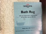 "Wamsutta Perfect soft Micro Cotton Bath Rug Mohawk Cotton Reversible Bath Rug Size 21""x34"""