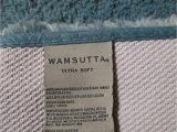 """Wamsutta Ultra Fine Reversible Bath Rug Wamsutta Ultra soft Green Bath Rug 24""""x40"""""""
