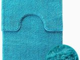 Water Absorbent Bathroom Rugs Shiny Sparkling 2pcs Bath Mat Sets Non Slip Water Absorbent Bathroom Rugs Teal by Exquizit Home